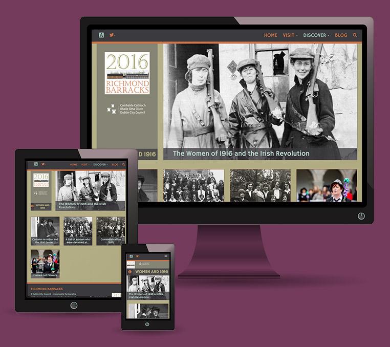 Responsive Web Design - Richmond Barracks website