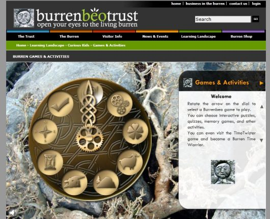 Burrenebe Games & Activities Interface