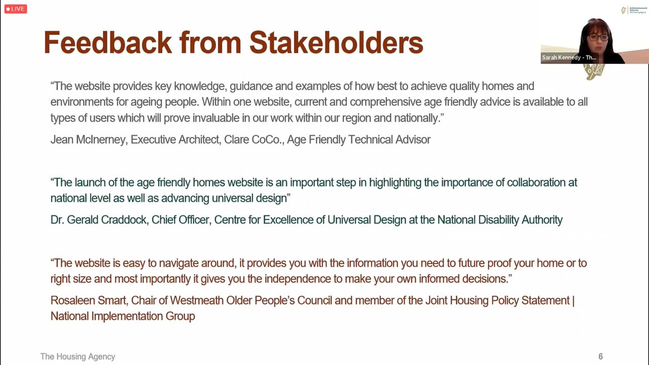 Age Freidnly Homes Stakeholders Feedback