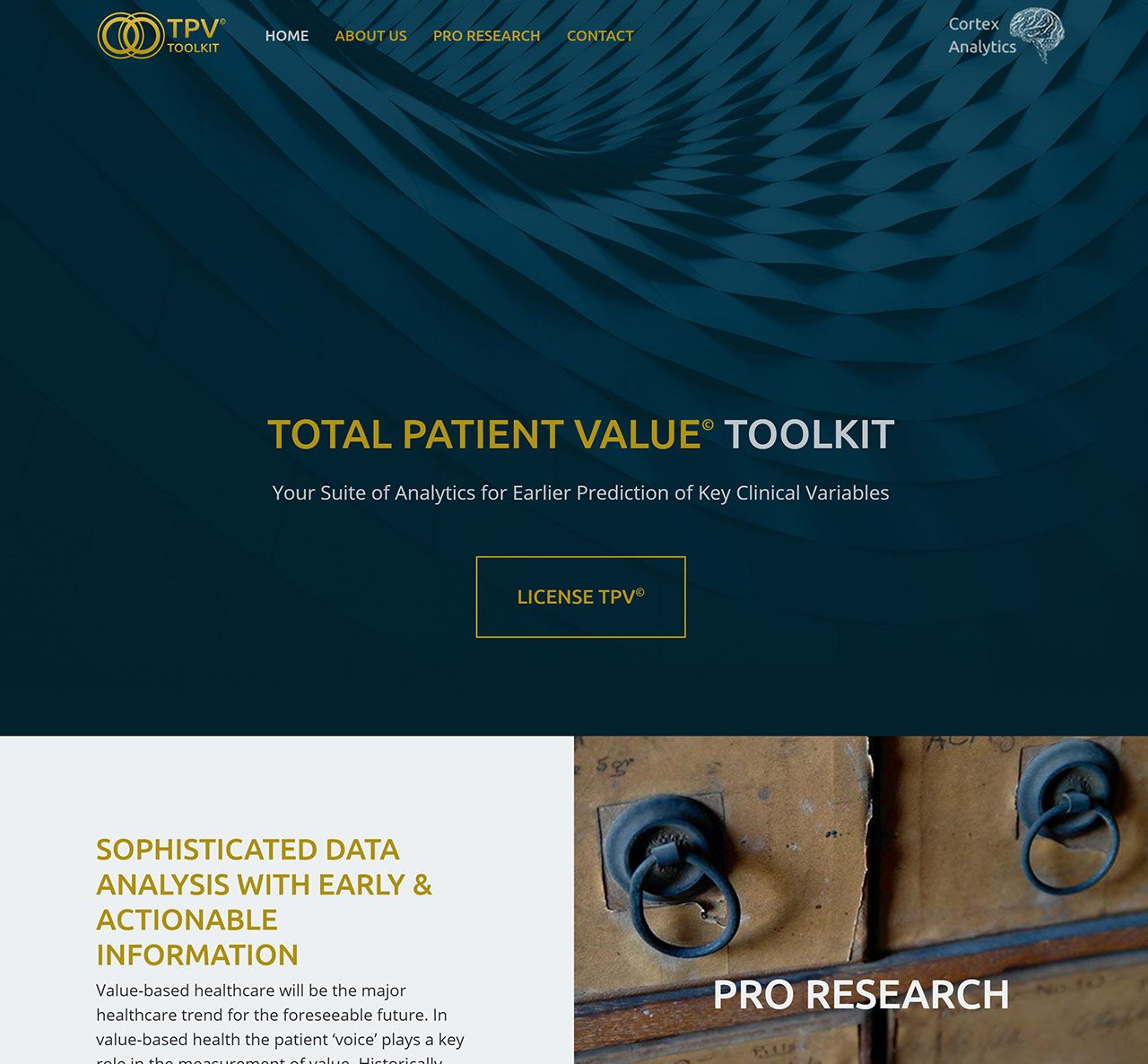 Cortex Analytics Homepage