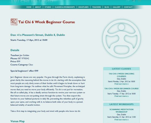 Tai Chi Ireland Class Page